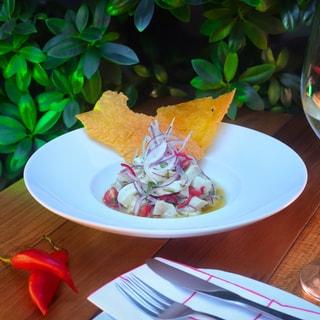 Risoto de camarão com coco verde
